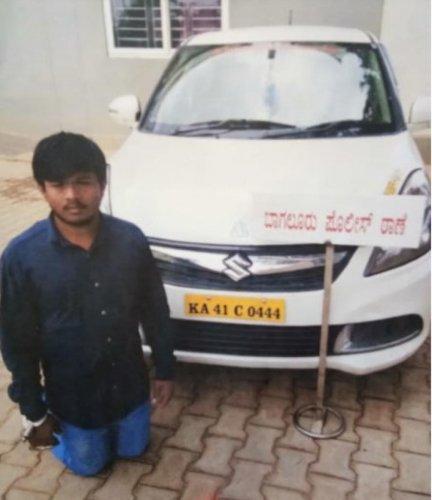 Cab driver H M Nagesh