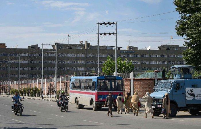 A view of the Civil Secretariat in Srinagar (PTI Photo)