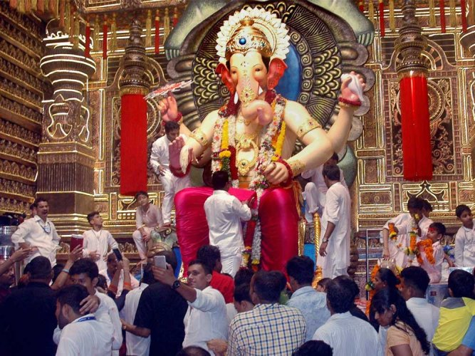 The Ganesh mandals of Mumbai and its suburbs are witnessing a whopping 25% decline when it comes to corporate sponsorships and donations in the wake of an economic slump that India is going through. (PTI File Photo)