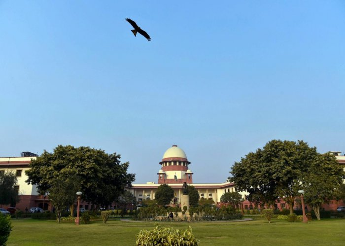 A bench of Justices N V Ramana and Ajay Rastogi declined to give any specific date of hearing on a request by a counsel, Subhranshu Padhi, on behalf of the disqualified legislators. (PTI File Photo)