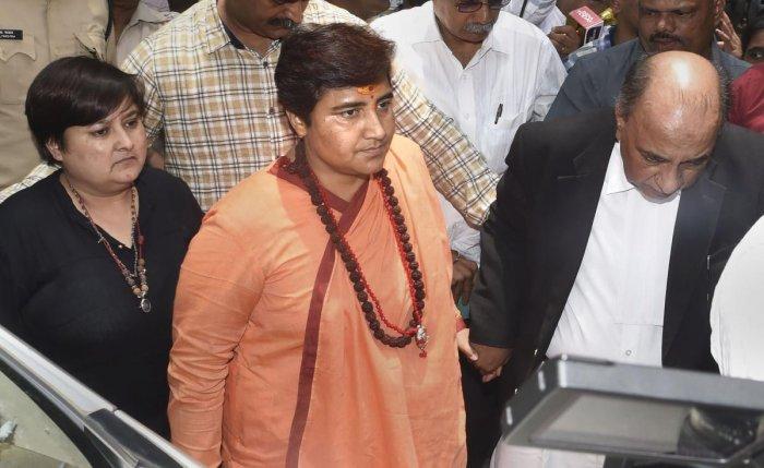 BJP MP Pragya Singh Thakur. (PTI Photo)