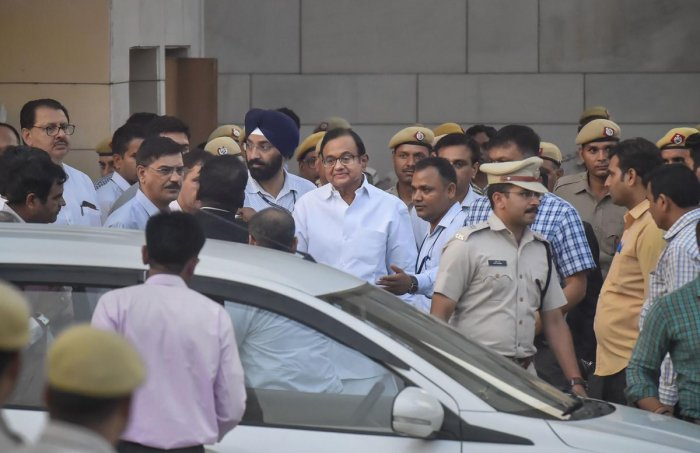 Chidambaram, whose CBI custody is ending on Monday, will be produced before a trial court where the agency can further seek his custody. PTI file photo