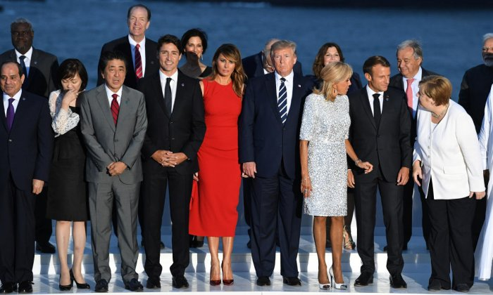 Leaders of G7 pose for a family photo. Reuters