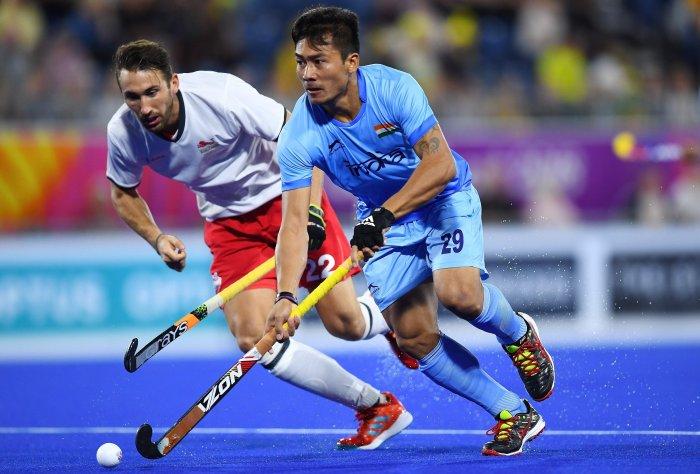 Indian men's hockey team midfielder Chinglensana Singh Kangujam. (AFP Photo)