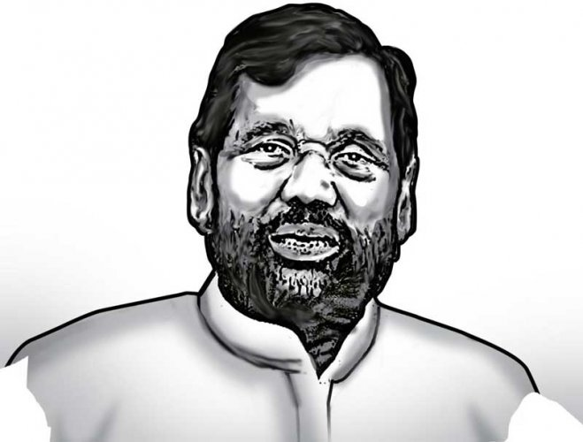 Scheduled Caste leader and Union Food and Consumer Affairs Minister Ramvilas Paswan.