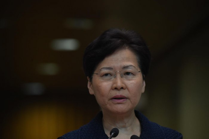 Hong Kong's Beijing-backed leader said she was confident the city's government could handle the unrest by itself and she would not give up on building a platform for dialogue. AFP
