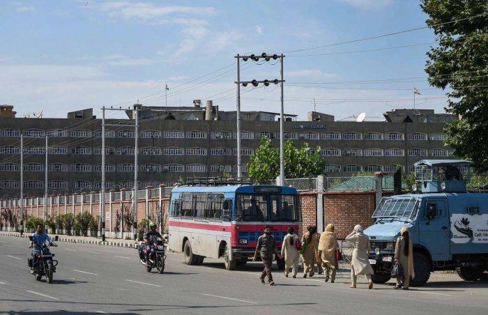 A view of the Civil Secretariat in Srinagar. PTI file photo
