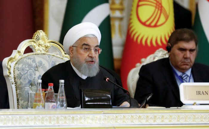 """Rouhani said """"the key for positive change is in the hands of Washington,"""" because Iran had already ruled out ever doing what worries the US the most -- building an atomic bomb. REUTERS/File Photo"""