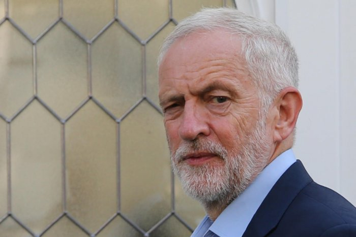 Opposition Labour party leader Jeremy Corbyn leaves his residence in north London. AFP photo