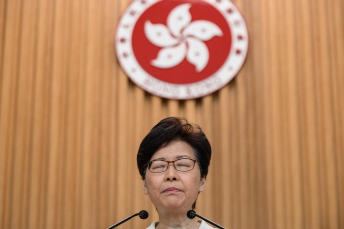 Hong Kong Chief Executive Carrie Lam (AFP Photo)