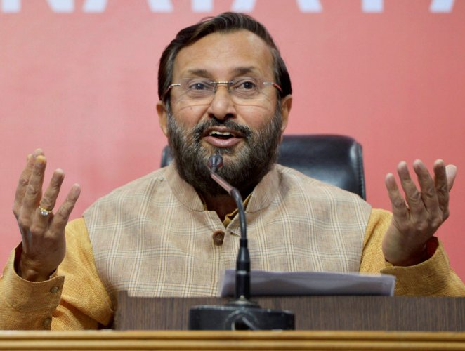 Training guns at Gandhi, Javadekar wondered whether the Congress leader's mindset changed after having won from Wayanad.He also wondered how far vote bank politics will go. (PTI File Photo)