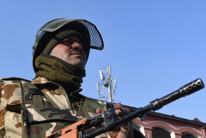 The firing in the Khanjar Sector along the LoC resulted in the death of the civilian on Monday. AFP file photo