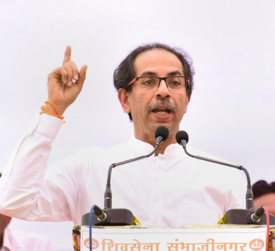 When asked about it, Thackeray said the announcement of political alliance between the BJP and Shiv Sena was made ahead of the Lok Sabha elections this year in Mumbai itself.(PTI Photo)