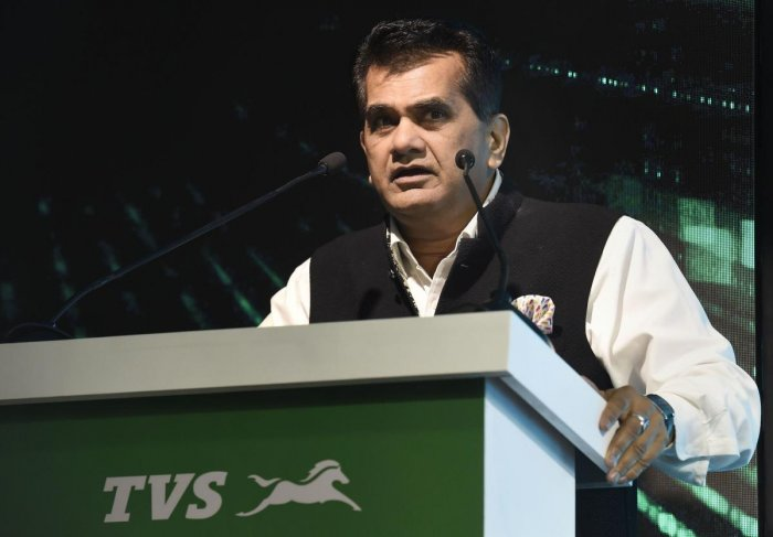 CEO of Niti Aayog Amitabh Kant. (PTI Photo)