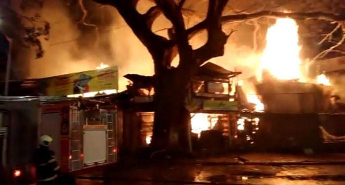 The incident took place at around 2.25 am and eight fire tenders along with fire brigade jawans were rushed to the spot, the official said./Twitter