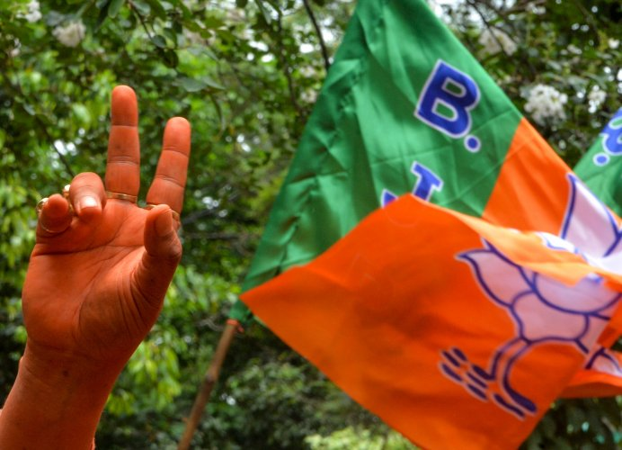 According to BJP sources, at present, seven such trade unions are there in the state claiming to be affiliated to the saffron party and the leadership is apprehensive that such activities may malign the party's image. (Photo by DIPTENDU DUTTA / AFP)