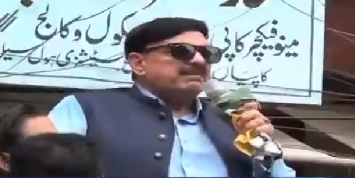 Pakistan's Railway Minister, Sheikh Rashid Ahmad.