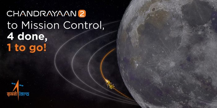 The next lunar-bound orbit manoeuvre has been scheduled between 6 pm and 7 pm on September 1.