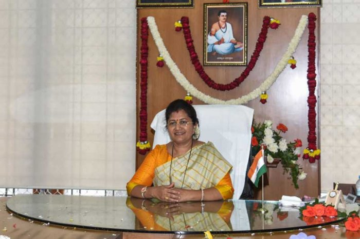 Women and Child Development Minister Shashikala Jolle. (DH Photo/S K Dinesh)