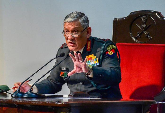 Army chief General Bipin Rawat. PTI file photo