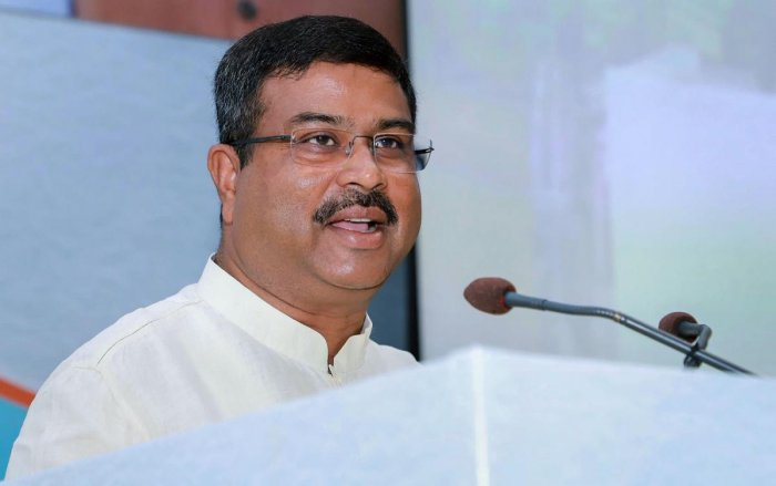 "Oil Minister Dharmendra Pradhan, on a three-day visit to Moscow, met his Russian counterpart Alexander Valentinovich Novak to review ""the entire spectrum of oil and gas cooperation,"" Pradhan said in a tweet after the meeting. (PTI Photo)"