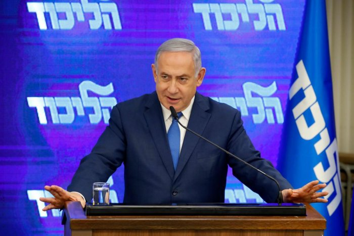 "Netanyahu on Thursday said Israel was ""determined to stop our enemies from possessing destructive arms."" AFP"