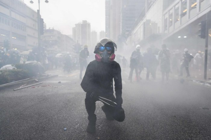 Hong Kong has been locked in three months of political crisis, with increasingly violent clashes between police and protesters. (Photo AFP)