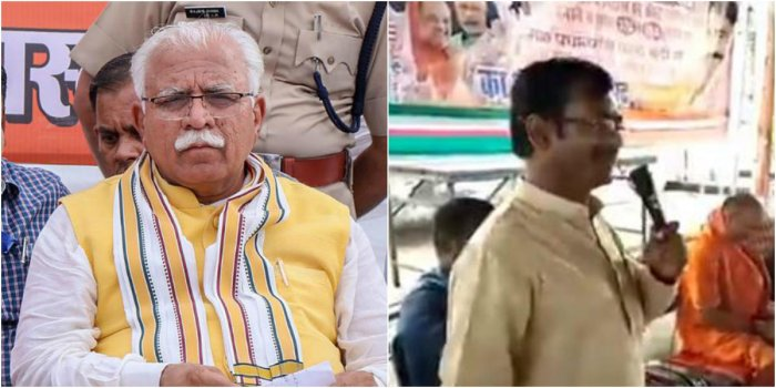 Haryana CM Manohar Lal Khattar (L) and UP BJP MLA Vikram Saini (R) were also mentioned in Pakistan's petition to the UN.