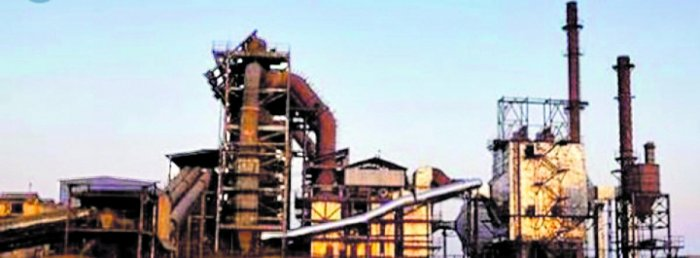 A sponge iron manufacturing plant on the outskirts of Hosapete, Ballari district. Most of the 70-plus plants in the iron ore-rich district may shut shop owing to the cascading effects of the economic slowdown. DH FILE PHOTO