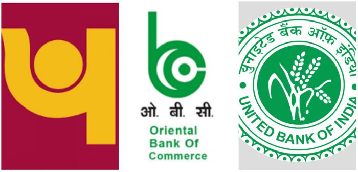 Punjab National Bank will be merged with United Bank of Indiaand Oriental Bank of Commerce