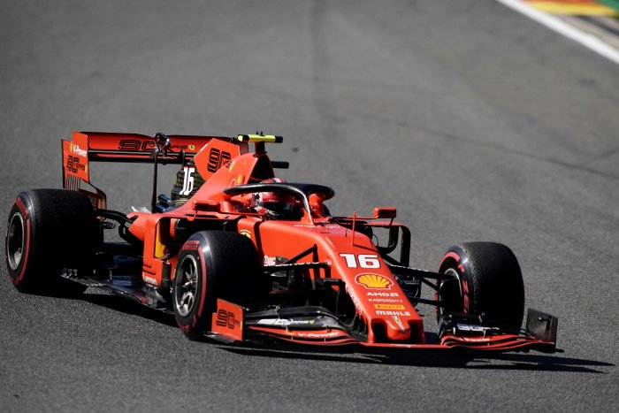 Ferrari's Charles Leclerc topped free practice for the Belgian Grand Prix. Picture credit: AFP