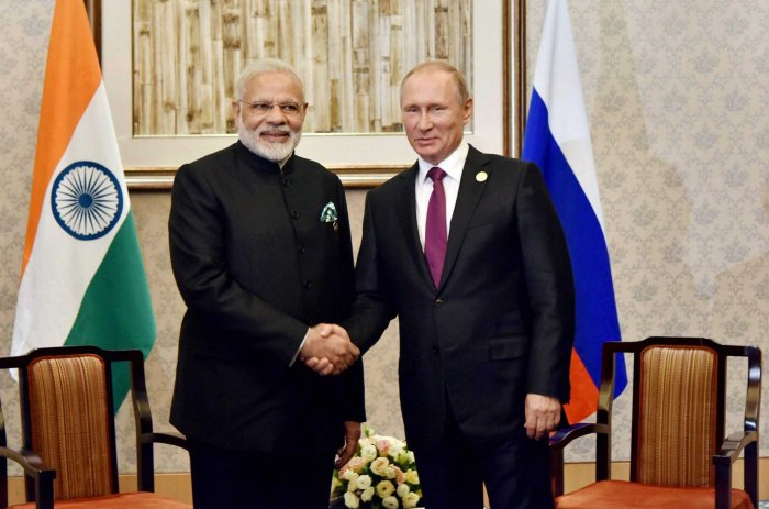 Modi will visit Vladivostok in Far Eastern Federal District of Russia from September 4 to 5 to attend the Eastern Economic Forum and to hold the annual summit with Putin (PTI File Photo)