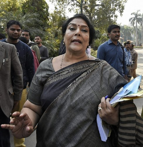 Congress Rajya Sabha MP Renuka Chowdhury (PTI File Photo)