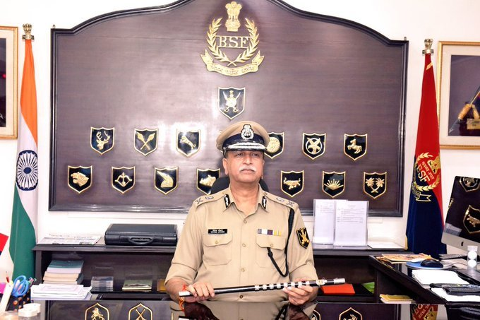 Johri, a 1984-batch officer of Madhya Pradesh cadre, took charge from his batch-mate Rajni Kant Mishra at the BSF headquarters in CGO Complex at Lodhi Road. (Image courtesy BSF/Twitter)