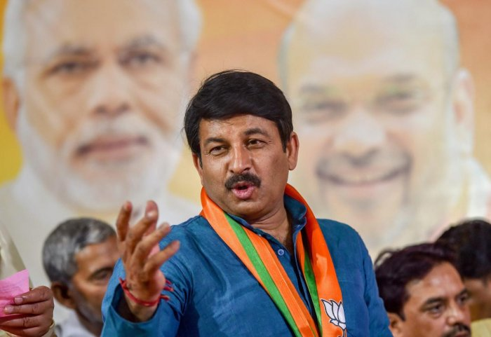 Delhi BJP President and party's candidate from North East Delhi Manoj Tiwari. (PTI Photo)