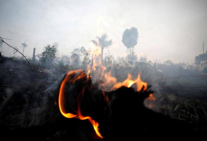 A tract of Amazon jungle burning is seen in Apui, Para state, Brazil August 30, 2019. Reuters