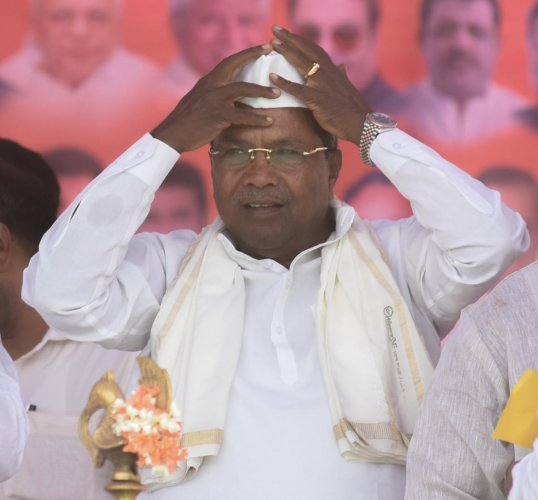 Congress Legislature Party (CLP) Chairman Siddaramaiah (DH File Photo)