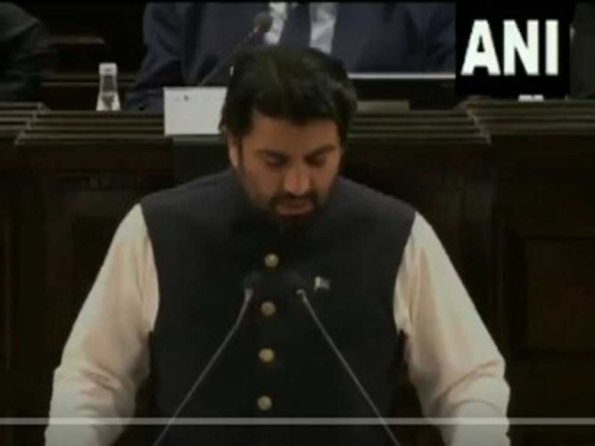 The Pakistani representative referred to the Kashmir issue after which a point of order was raised by India and a strong rebuttal was given by Rajya Sabha Deputy Chairman Harivansh. (ANI)