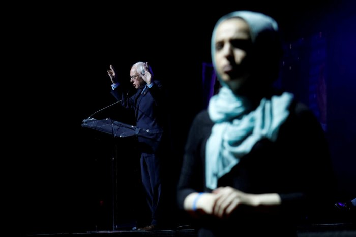 U.S. Democratic presidential candidate Bernie Sanders attends the Islamic Society of North America's Convention in Houston, Texas, U.S. August 31, 2019. Photo by Reuters