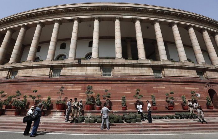 Indian Parliament in New Delhi. (DH File Photo)