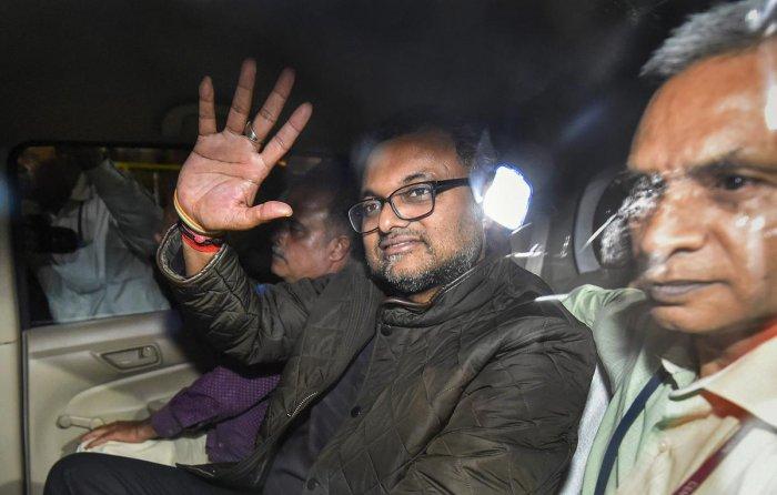 Karti Chidambaram. (PTI File Photo/Ravi Choudhary)