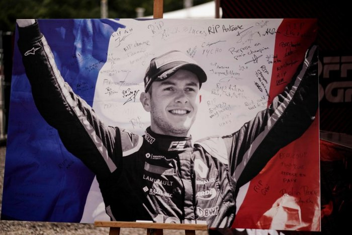Anthoine Hubert died following a heavy crash over the weekend. AFP Photo