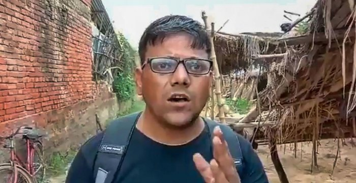 Journalist Pawan Jaiswal reiterates that he shot what he saw at the school in Mirzapur. (PTI Photo)
