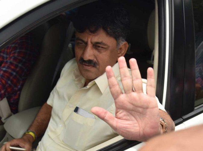 D K Shivakumar reached the ED office at 11.30 am