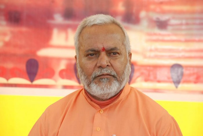 Union minister and BJP leader Swami Chinmayanand. (DH File Photo)