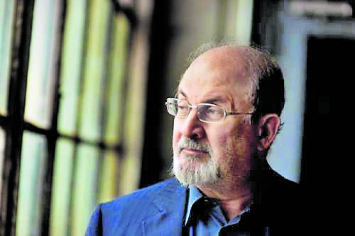 The 72-year-old former Booker Prize-winning British Indian novelist Salman Rushdie. (DH Photo)
