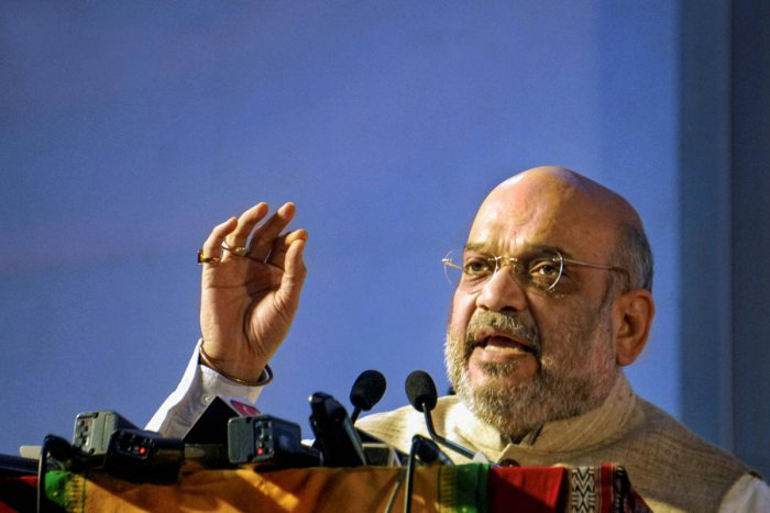 Union Home Minister Amit Shah assured that J&K panch and sarpanch will get police security and an insurance coverage of Rs two lakh each. (PTI Photo)
