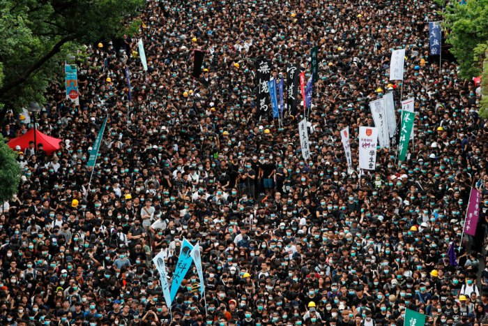 A view of the HK protest. (Reuters photo)