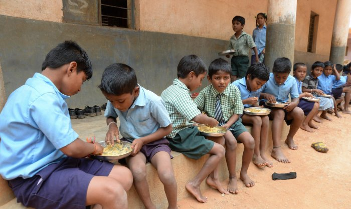 Jaiswal said that he had received information that the children at Siur primary school in Mirzapur were being served namak-roti as mid-day meal. File photo for representation