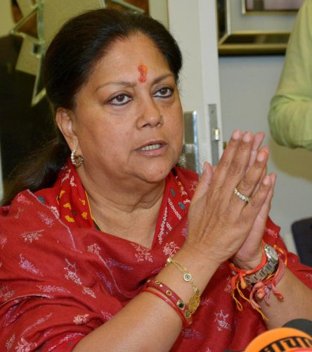 Vasundhara Raje. PTI file photo